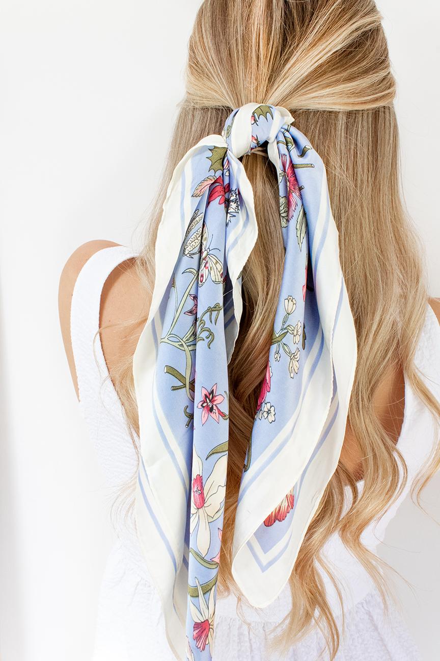 blue hair scarf