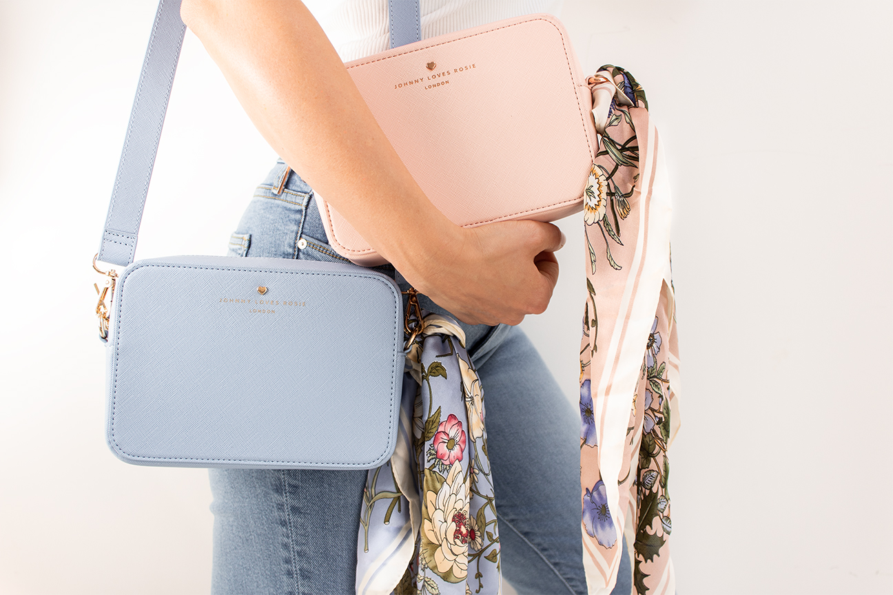 pastel pink and blue bag