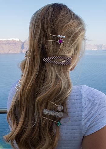 hair clips Santorini