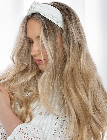 white pearl hair band