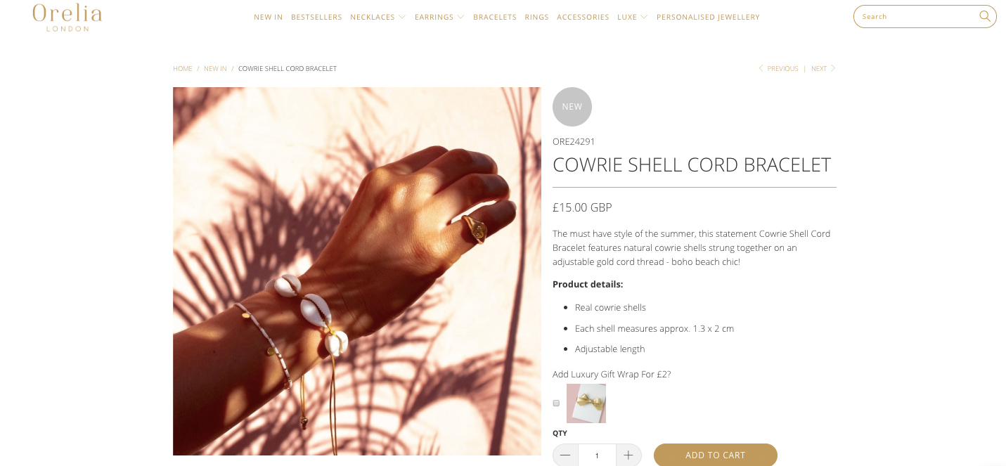 palm shadows bracelet
