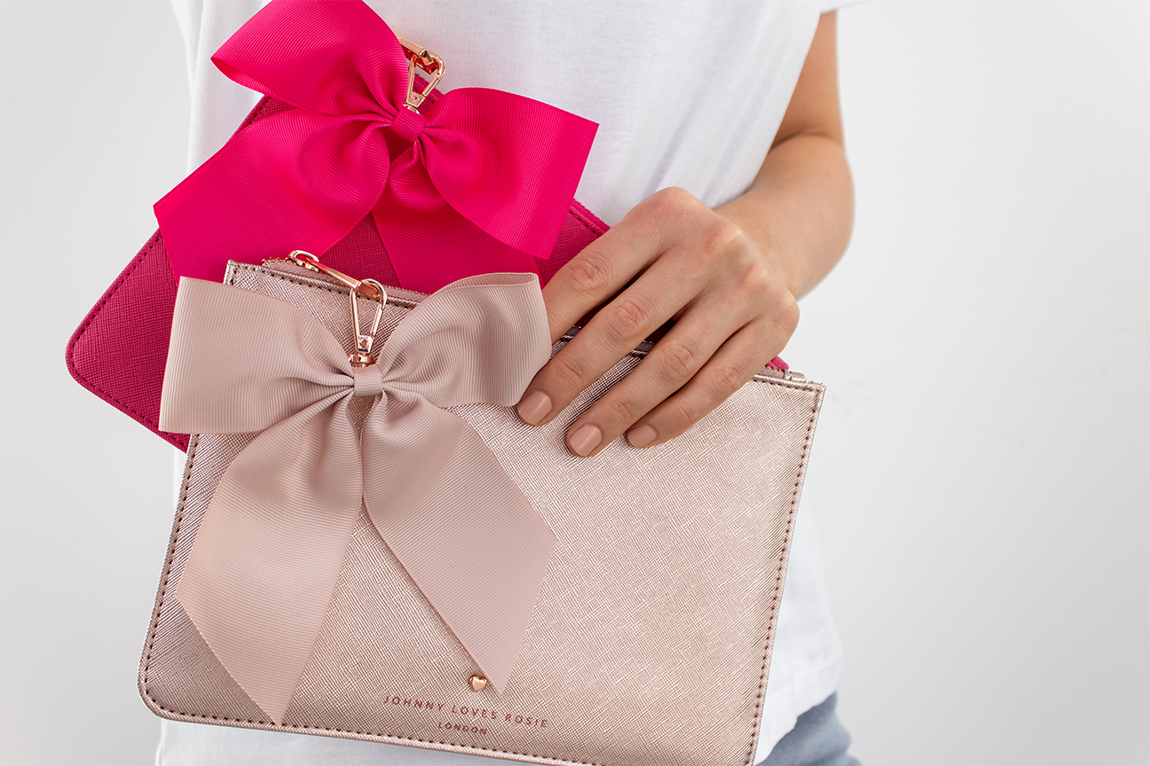 pink clutch nude nail